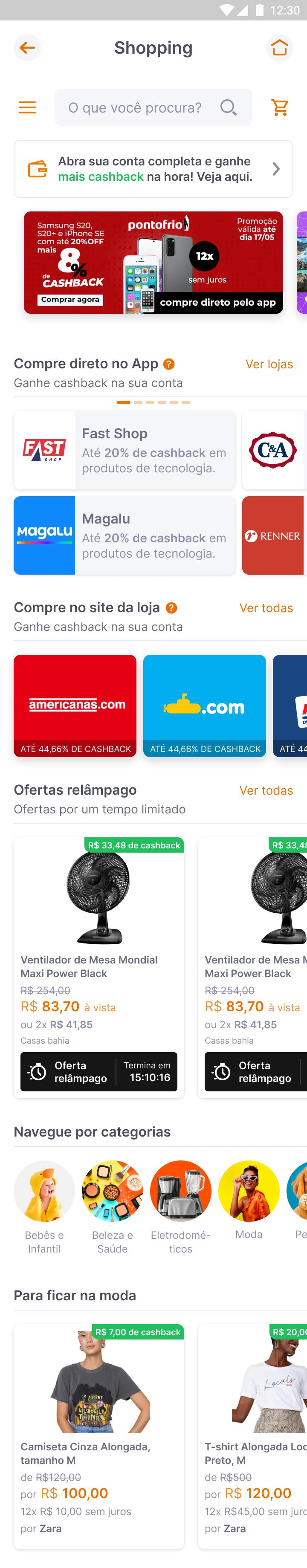 screenshot do aplicativo Inter