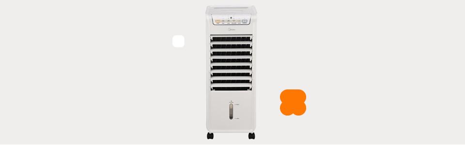 Climatizador Midea AKAF1/AKAF2 Ventila, Umidifica, Purifica com 3 Velocidades – Branco – 220V