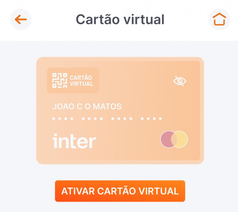 Cartão virtual Inter